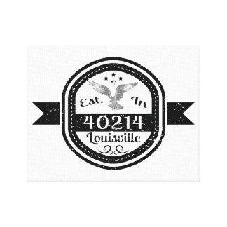 Established In 40214 Louisville Canvas Print