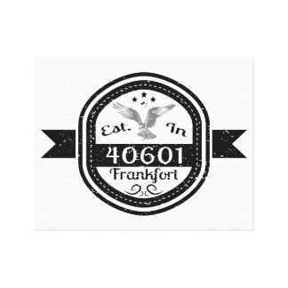 Established In 40601 Frankfort Canvas Print
