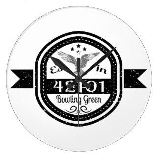 Established In 42101 Bowling Green Wall Clocks
