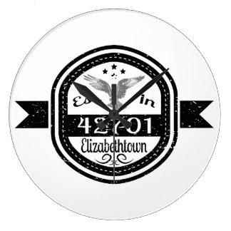 Established In 42701 Elizabethtown Large Clock