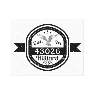 Established In 43026 Hilliard Canvas Print