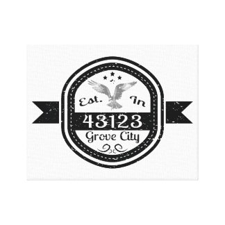 Established In 43123 Grove City Canvas Print