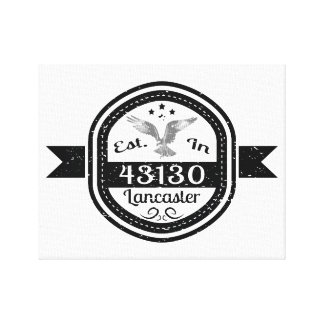 Established In 43130 Lancaster Canvas Print