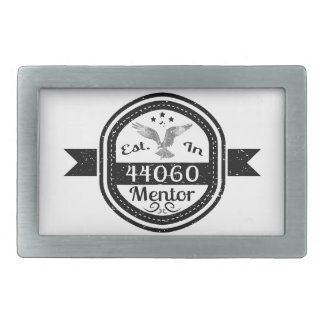 Established In 44060 Mentor Belt Buckles