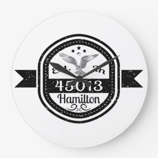 Established In 45013 Hamilton Large Clock