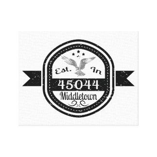 Established In 45044 Middletown Canvas Print
