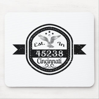 Established In 45238 Cincinnati Mouse Pad