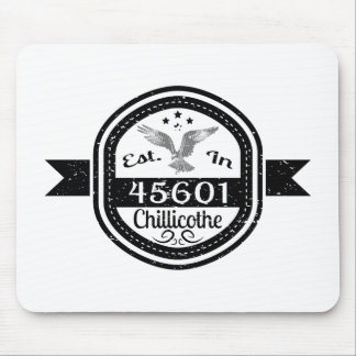 Established In 45601 Chillicothe Mouse Pad