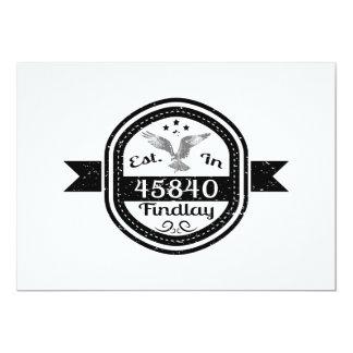 Established In 45840 Findlay Card