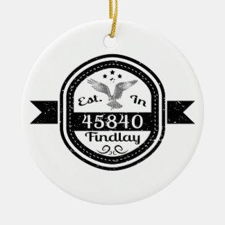 Established In 45840 Findlay Ceramic Ornament