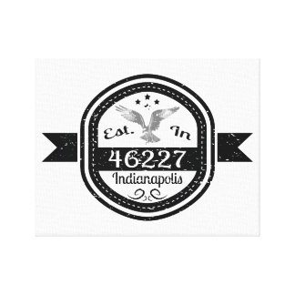Established In 46227 Indianapolis Canvas Print