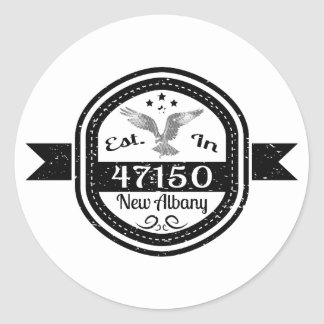 Established In 47150 New Albany Classic Round Sticker