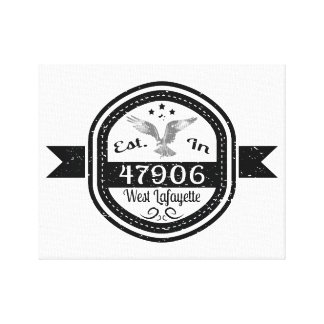 Established In 47906 West Lafayette Canvas Print