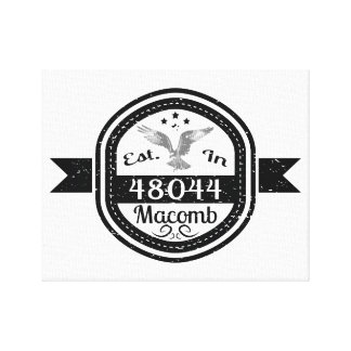 Established In 48044 Macomb Canvas Print