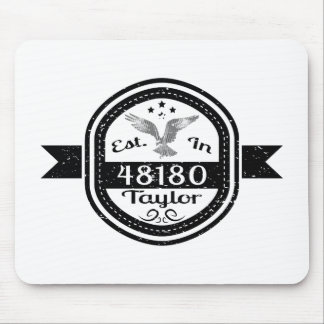 Established In 48180 Taylor Mouse Pad