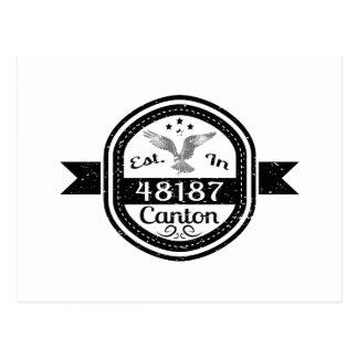Established In 48187 Canton Postcard