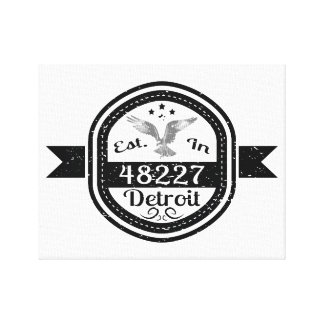 Established In 48227 Detroit Canvas Print