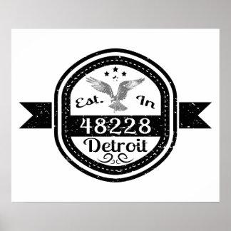 Established In 48228 Detroit Poster