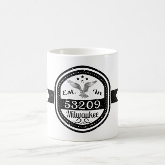 Established In 53209 Milwaukee Coffee Mug