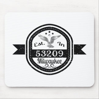 Established In 53209 Milwaukee Mouse Pad