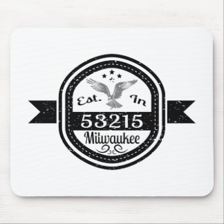 Established In 53215 Milwaukee Mouse Pad