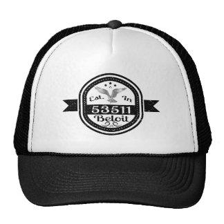 Established In 53511 Beloit Trucker Hat