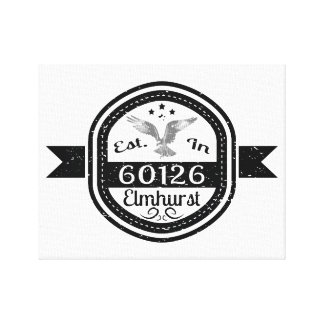 Established In 60126 Elmhurst Canvas Print