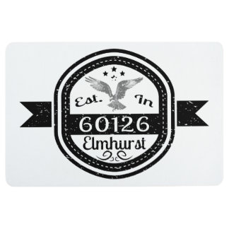 Established In 60126 Elmhurst Floor Mat