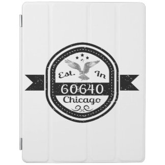 Established In 60640 Chicago iPad Cover