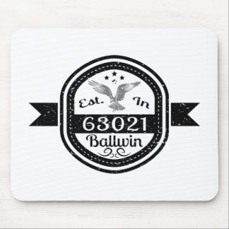 Established In 63021 Ballwin Mouse Pad