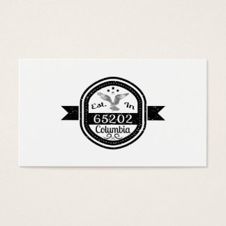 Established In 65202 Columbia Business Card