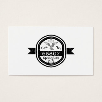 Established In 65807 Springfield Business Card