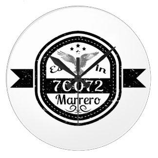 Established In 70072 Marrero Large Clock