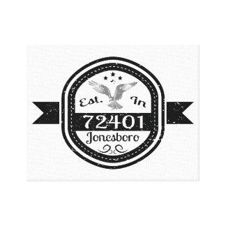 Established In 72401 Jonesboro Canvas Print