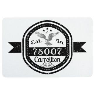 Established In 75007 Carrollton Floor Mat