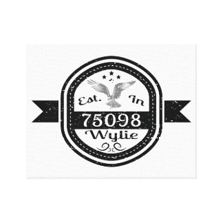 Established In 75098 Wylie Canvas Print