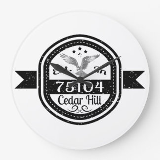 Established In 75104 Cedar Hill Large Clock