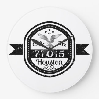 Established In 77015 Houston Large Clock