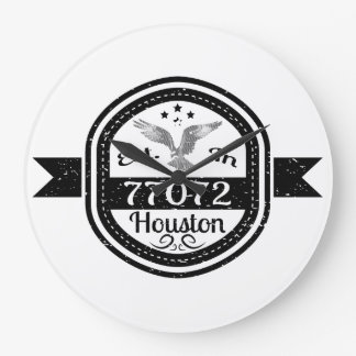 Established In 77072 Houston Large Clock