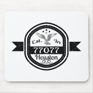 Established In 77077 Houston Mouse Pad