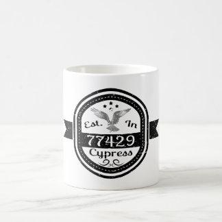 Established In 77429 Cypress Coffee Mug