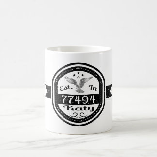 Established In 77494 Katy Coffee Mug