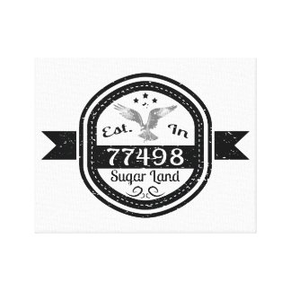 Established In 77498 Sugar Land Canvas Print
