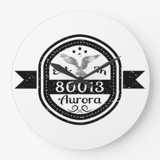 Established In 80013 Aurora Wall Clocks