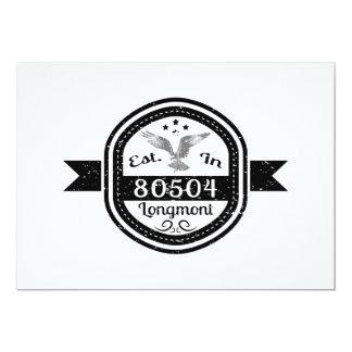 Established In 80504 Longmont Card