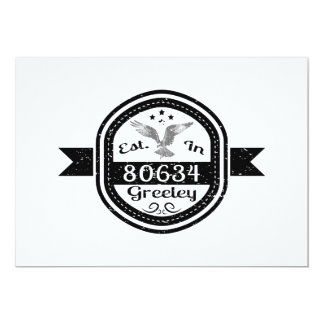 Established In 80634 Greeley Card
