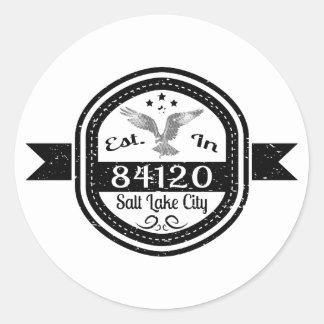 Established In 84120 Salt Lake City Round Sticker