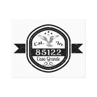 Established In 85122 Casa Grande Canvas Print