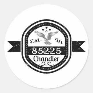 Established In 85225 Chandler Classic Round Sticker