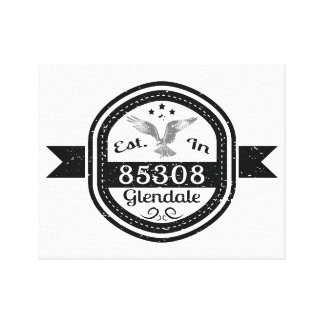 Established In 85308 Glendale Canvas Print